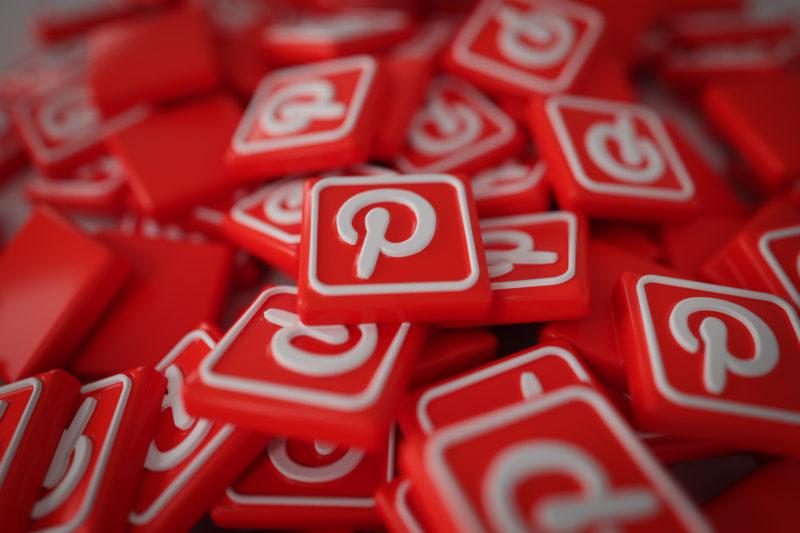 Pile of 3D Pinterest Logos
