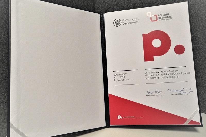 2020_11_18_Certyfikat prostej Polszczyzny dla CABP2